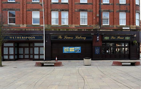 Furness Railway memory 3: Wetherspoon's, Dalton Road, Barrow-in-Furness, 14 March 2017.  The Furness Railway name lives on.