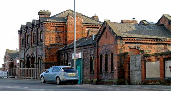 Barrow Town station, Strand Road, Barrow-in-Furness, 2 February 2013 1.   Opened in 1863 by the Furness Railway but closed in 1882 when it was replaced by Central station on the new Barrow loop line.  Now listed Grade 2.