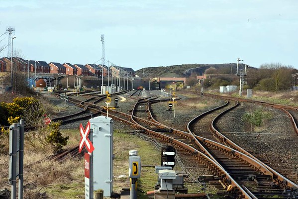Carriage sidings and fuelling point, Barrow-in-Furness, 14 March 2017.  Still in use by Northern.
