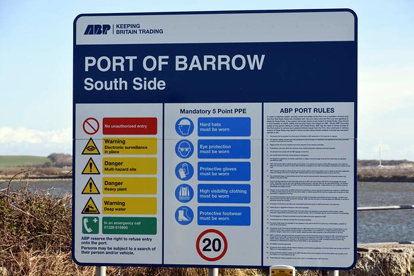 ABP Port of Barrow sign, Barrow-in-Furness, 14 March 2017