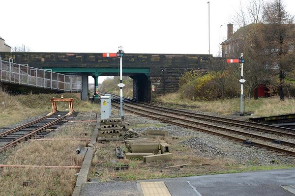 Barrow-in-Furness station, 1 December 2015 2.  Looking south east.