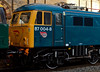 87004 Britannia, Crewe, 16 September 2009 - 1707 1      87004 is going to its new life in Bulgaria wearing BR blue, with BZK markings.