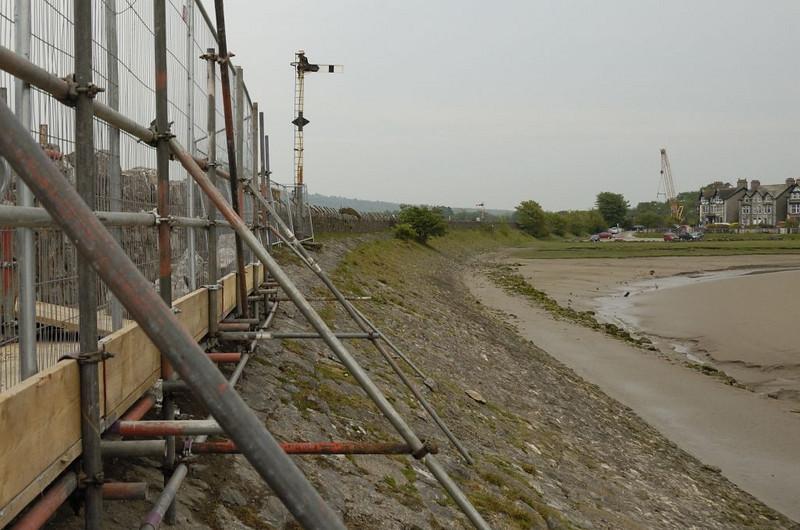 Arnside Viaduct rebuilding, Sat 7 May 2011 8: Looking east from the eastern end.