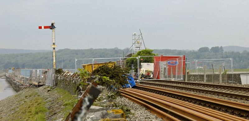Arnside Viaduct rebuilding, Sat 7 May 2011 2: Looking west from the eastern end.