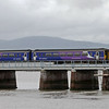 156452, Kent Viaduct, Arnside, Mon 18 July 2011 - 1701 2.    The Sprinter crosses the site of the opening span.