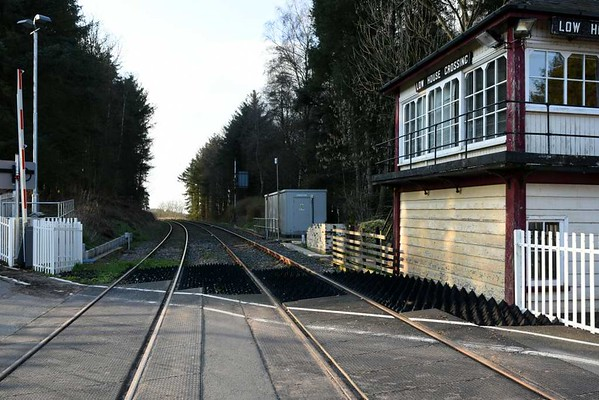 Low House level crossing, 23 March 2017 4.  Looking north towards Eden Brows and Carlisle.