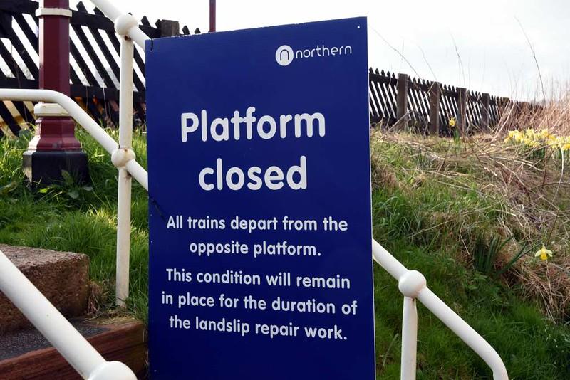 Lazonby & Kirkoswald station, 23 March 2017 3.  Up platform closed.