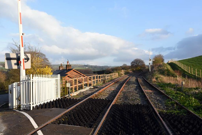 Low House level crossing, 23 March 2017 3.  Looking south towards Armathwaite.