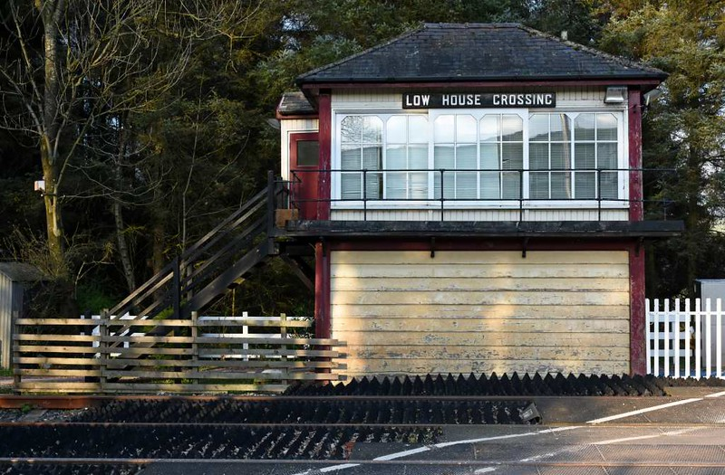 Low House Crossing signal box, 23 March 2017.