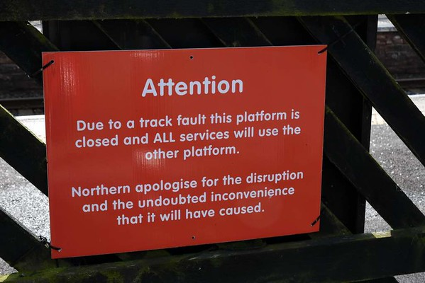 Lazonby & Kirkoswald station, 23 March 2017 4.  Up platform closed.