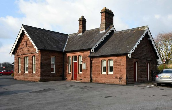 Lazonby & Kirkoswald station, 23 March 2017 1.  Station building on the down platform, no longer in railway use.