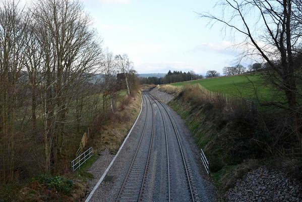 Eden Brows, 23 March 2017 2.  Looking south towards Low House level crossing and Armathwaite.