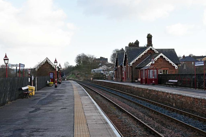 Lazonby & Kirkoswald station, 23 March 2017 8.  Looking south towards Langwathby.