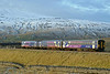 158843 & 153328, Ribblehead, Sat 28 January 2012 - 1602.  Northern's 1449 Leeds - Carlisle.