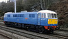 86259 Les Ross, 0Z87, Hest Bank, Sat 25 February 2012 - 1121.  The 86 loses no time in running light from Carnforth to Preston after handing over the Winter CME to 70013.