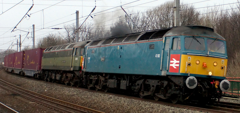 47853 Rail Express & 47815 Great Western, 4Z60, Lancaster, 18 Ja