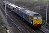 47802, 66404, 37510 & 37038, 0Z16, Carnforth, 20 January 2007 -