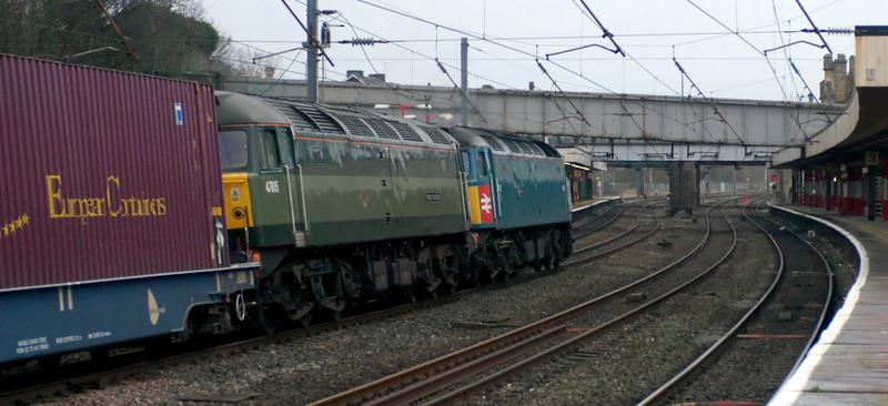 47853 Rail Express & 47815 Great Western, 4Z60, Lancaster, 18 Ja
