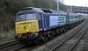 47810 Peter Bath MBE, 5Z94, Hest Bank, Fri 11 January 2013 - 1543.  A Gresty Bridge - Kingmoor move with the stock for the Cumbrian coast 'glowex' training runs.  The six Mark 2s were 9527, 6067, 5929, 6042, 5921 & 5964, all ex Anglia except 6067 (Virgin).