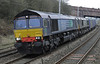 66426 & 66421, 4S43, Hest Bank, Sat 19 January 2013 - 1223.  DRS's late running Daventry - Mossend Tesco Express.