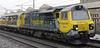 70004, 6C16, Carnforth, Fri 25 January 2013 - 1021.  Freightliner's Crewe - Carlisle departmental leaves the loop.