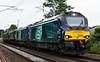 68008 Avenger, 68021 Tireless, 57007, 37422 & 37402 Stephen Middlemore, 0K27, Carnforth, Thurs 1 June 2017 - 1630 1.  DRS's 1405 Kingmoor - Gresty Bridge move.