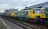 66620 + 90045 & 90049 (both DIT), 4M27, Carnforth Mon 30 January 2017 - 1419 2.