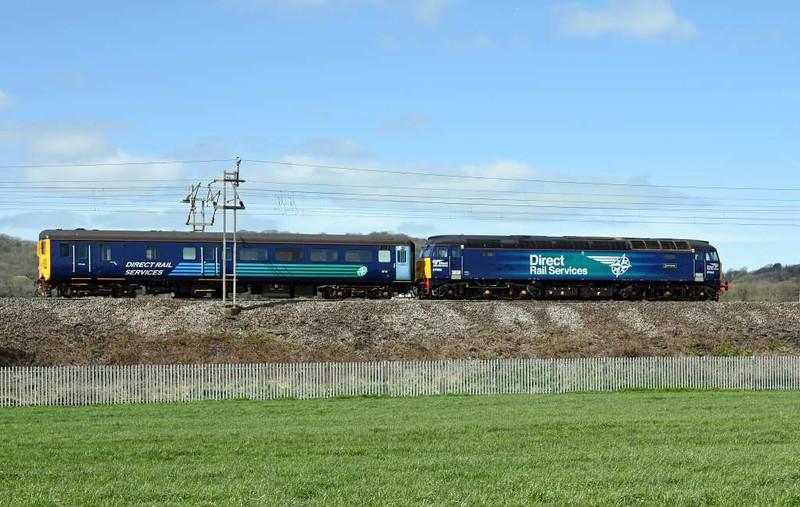 57002 Rail Express & DBSO 9710, 5Z30, Carnforth, Tues 4 April 2017 - 1334 1.  DRS's 0930 Derby - Kingmoor move.