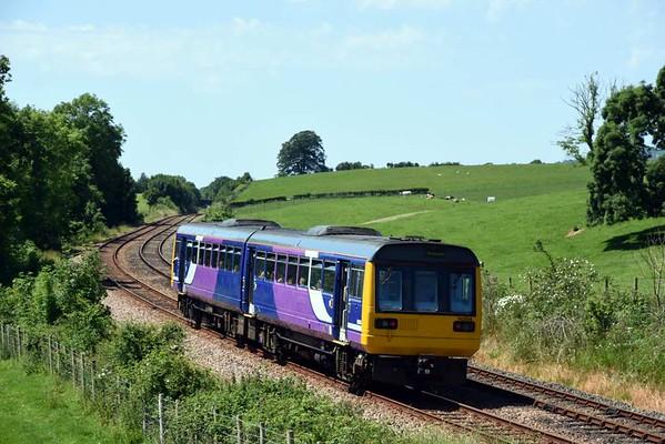 142004, 2H54, Borwick, Sun 18 June 2017 - 1238.  Northern's 1100 Leeds - Morecambe.