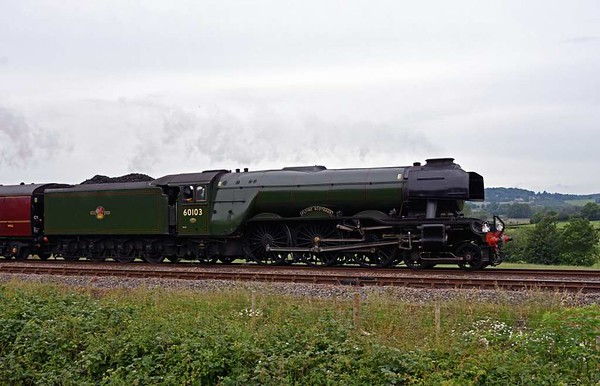 60103 Flying Scotsman, 5Z71, Capernwray, Wed 14 June 2017 - 1155.  A Carnforth - York NRM move with 99953.  FS had arrived at Carnforth the previous evening after working the London Victoria - Chester Cathedrals Express.