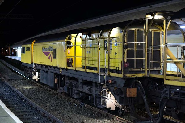 Loram rail grinder C210, Carnforth, Thurs 2 February 2017 3.  DR 73231.