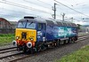 57308 Jamie Ferguson, 0Z57, Carnforth, Fri 30 June 2017 - 1402 1.  DRS's 1250 Carlisle - Crewe move.  The loco had just been named at Carlisle after the Signal Maintenance Engineer who sadly died in a sea-fishing accident in 2016 at Newquay.  He had been in post at Carlisle for less than a year.