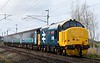 37424 Avro Vulcan XH558, 2C47, Carnforth, Tues 7 March 2017 - 1037.  '37558' heads the 1004 Preston - Barrow after making its debut on Northern's Cumbrian coast loco-hauled services with the 2C32 0515 Carlisle - Preston. The consist was 6122, 6008, 6173 & DBSO 9709.