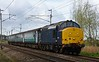 37422, 2C47, Carnforth, thurs 13 April 2017 - 1034.  DRS's still unbranded loco heads Northern's 1004 Preston - Barrow.  The consist was 5810, 5971, 6001 & 9704.