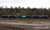 66422, 88002 Prometheus & 66432, 8Z66, Carlisle yard, Tues 24 January 2017 - 1026.   The convoy arrives from Brunthill.