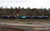 66422, 88002 Prometheus & 66432, 8Z66, Carlisle yard, Tues 24 January 2017 - 1026.   The convoy arrives from Brunthill.