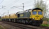 66597 Viridor, 4Z01, Carnforth, Wed 19 April 2017 - 1736.  Freightliner's 1132 Thoresby Colliery Junction - Carlisle Upperby test run with Network Rail's new Loram CRG(01) corrective rail grinder DR 79304 - 79301.