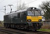 92010, 0Z70, Carnforth, Fri 3 March 2017 - 0926.  An 0800 Crewe - Carlisle test run.  92010 left Carlisle for Crewe on time at 1150 (0Z71), but then spent the afternoon at Upperby, not passing Carnforth until 1713, 240 late. It had been released from Wabtec Loughborough on the 2nd.