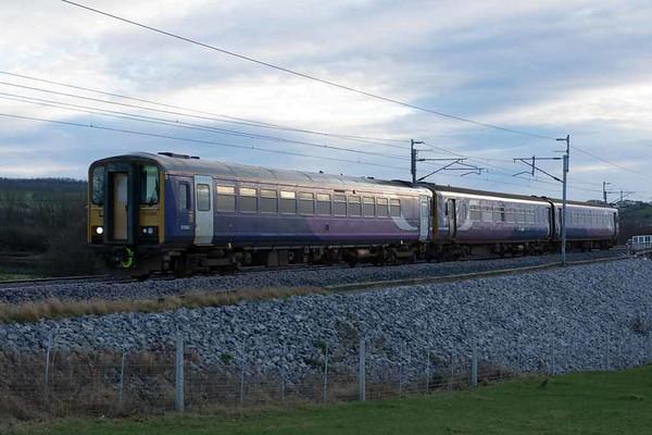 153363 & 156460 Driver John Axon GC, 1C74, Carnforth, Sat 14 January 2017 - 1514.  Northern's 1430 Preston - Windermere.