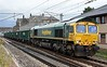 66621, 6H51, Carnforth, Thurs 8 June 2017 - 1215.  Freightliner's 1058 Hardendale quarry - Tunstead empty MWA hoppers runs into the up passenger loop as usual.  It left on time at 1257.