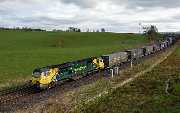 70005, 4S44, Penrith, Wed 5 April 2017 - 1703.  The 1213 Daventry - Coatbridge Freightliner.