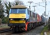 90024 & 90018 The Pride of Bellshill, 4M25, Carnforth, Tues 7 March 2011 - 1052.  DB Cargo's 0606 Mossend - Daventry.