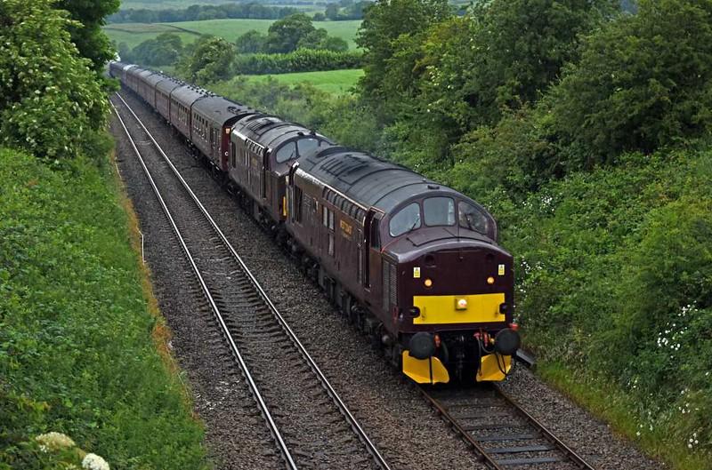 37516 Loch Laidon + 37669 & 48151, 1Z45, Arkholme, Tues 27 June 2016 - 1040 1.  WCRC's 0748 Chester - Carlisle Dalesman.