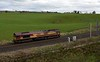 66116, 0V71, Penrith, Wed 5 April 2017 - 1638.  DB Cargo's 1602 Carlisle yard - Hardendale quarry move.  The loco picked up containerised lime at Hardendale and took it to Margam.