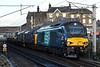 68001 Evolution, 37422 & 37218, 6K27, Carnforth, Mon 20 February 2017 1 - 1648.  DRS's 1443 Carlisle yard - Basford Hill departmental.