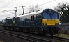 92018 & 92033 (DIT), 0Z93, Carnforth, Sun 5 February 2017 - 1524.  GBRf's 1317 Crewe - Tebay test run.  92018 had been re-released from Wabtec Loughborough on the 1st after modifications.  It had attempted a Crewe - Carlisle test run on the 3rd but only got as far as Lancaster.  92033 worked the return from Tebay with 92018 dead in tow.