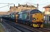 37602 & 37609, 1Z57, Carnforth, Sat 17 June 2017 - 2046.  The 1200 Fort William - Crewe Three Peaks special.  It was 40 late after 37602 replaced 37605 at Carlisle.