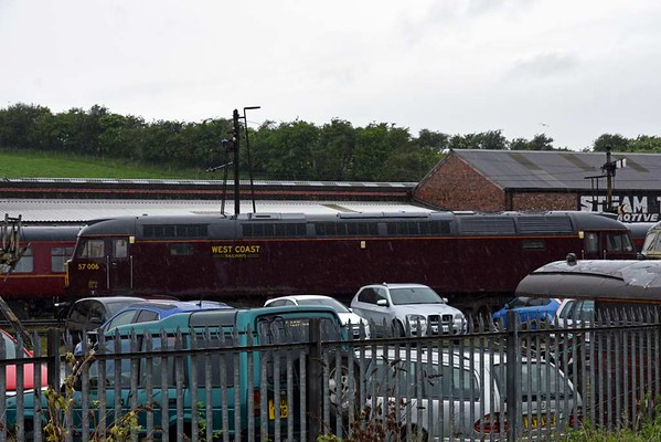 57006, Carnforth Steamtrown, Thurs 8 June 2017