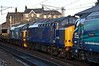 68001 Evolution, 37422 & 37218, 6K27, Carnforth, Mon 20 February 2017 2.  37422 had led 68009, 68023 & 68025 on DRS's 0Z68 1900 Gresty Bridge - Kingmoor move on the 15th but apparently failed at Lancaster, hence the early return to Crewe.