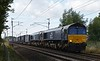 66305 & 66432, 4S43, Carnforth, Sat 11 August 2018 - 1040.  DRS's 0640 Daventry - Mossend Tesco Express.  This is normally worked by a single class 88, but this was the second successive day when this pair of 66s was used.